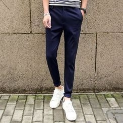 Pinth - Plain Slim Fit Pants