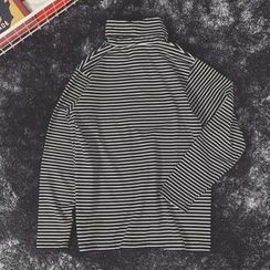 Milioner - Striped Turtleneck Long-Sleeve T-Shirt