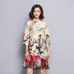 la nuit - 印花七分袖旗袍