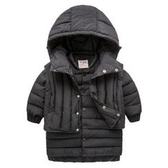 Kido - 童裝套裝: 連帽填料馬甲 + 夾層夾克