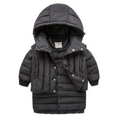 Kido - Kids Set: Hooded Padded Vest + Padded Jacket