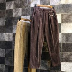 Jade Rabbit - Hoop-Accent Corduroy Pants