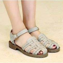 Freesia - Perforated Gladiator Sandals