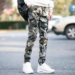 Evolu Fashion - 迷彩修身长裤