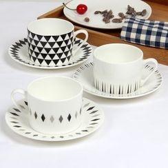Hashi - Set: Printed Cup + Plate