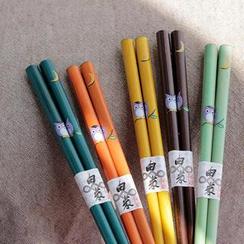 三木青禾 - 五款: 猫头鹰图案筷子