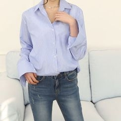 DANI LOVE - Pocket-Front Striped Shirt