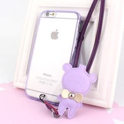 MILESI - iPhone 6 / 6 Plus Case with Bear Earphone Winder