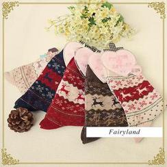 布衣天使 - 北欧风图案针织袜子
