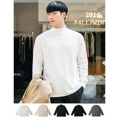 STYLEMAN - Long-Sleeve Mock-Neck T-Shirt