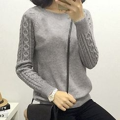 Polaris - Cable Knit Knit Top