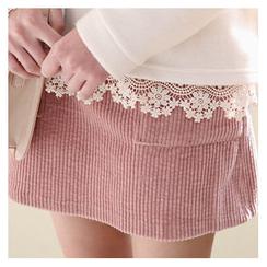 Sechuna - Band-Waist Dual-Pocket Skirt
