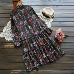 YOYO - Long-Sleeve Printed Dress