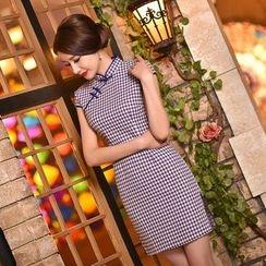 Montebelle - 格子盖袖旗袍