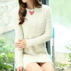 Isadora - Faux Pearl Furry Sweater