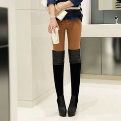Kireina - Faux-Leather Over the Knee Boots
