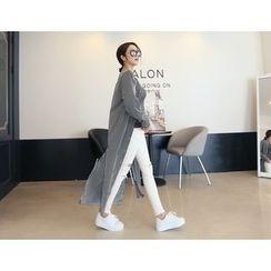 DANI LOVE - Slit-Hem Stripe Long Shirt