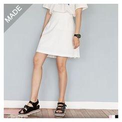 FROMBEGINNING - Detachable Suspender Skirt