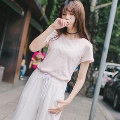 微米家 - 条纹短袖T恤