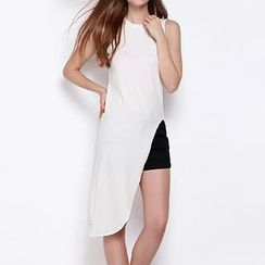 Obel - Sleeveless Asymmetric Long Top