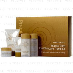Tony Moly - Intense Care Snail Skincare Travel Kit (5 items): Skin 60ml + Lotion 60ml + Essence 15ml + Cream 20ml + Cleanser 50ml