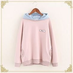 Fairyland - Color Panel Embroidered Hoodie