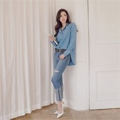 ERANZI - Rolled-Up Straight-Cut Jeans