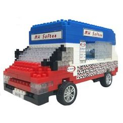 M.H. Blocks - Hong Kong Ice-cream Van Toy Building Blocks