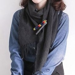 MOORE - Wool Safety Pin Brooch