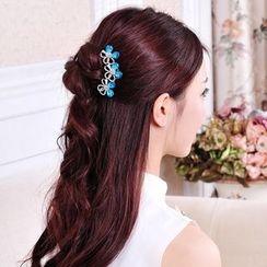 Missy Missy - Rhinestone Flower Hair Comb