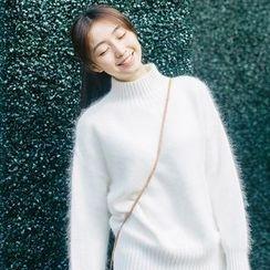 lilygirl - Plain Mock Neck Sweater