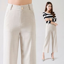 mise en scene - Cropped Wide Leg Pants