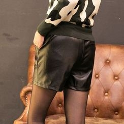 Loverac - Faux Leather Shorts