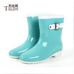 Rivari - Strapped Rain Short Boots