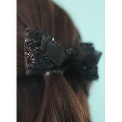kitsch island - Sequined Bow Hair Barrette