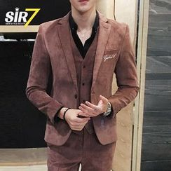 SIRIUS - Set: Single Button Blazer + Vest + Pants