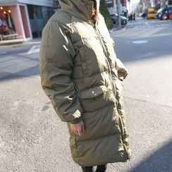 PPGIRL - Hooded Duck-Down Long Coat