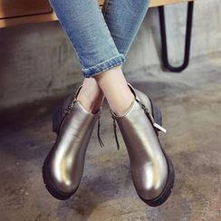 楊董 - 粗跟及踝靴