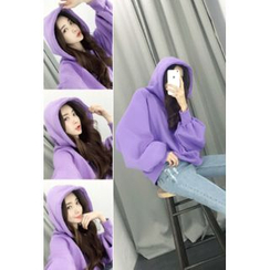 ATTYSTORY - Hooded Balloon-Sleeve Pullover