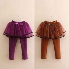 貝殼童裝 - 小童連網紗內搭褲