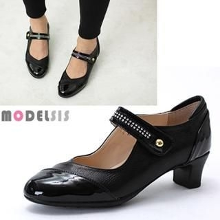 MODELSIS - Genuine Leather Mary Jane Pumps