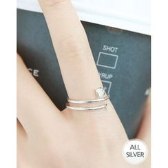 Miss21 Korea - Spiral Nail Silver Ring