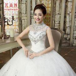 MSSBridal - Rhinestone Sleeveless Wedding Ball Gown