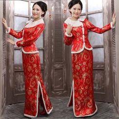 Bridal Workshop - 2 Pieces Wedding Gown Set: Top + Skirt