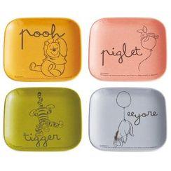 Skater - Winnie the Pooh Melamine Mini Plate (4 Pieces Set)