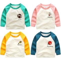 Seashells Kids - Kids Print Raglan Long-Sleeve T-shirt