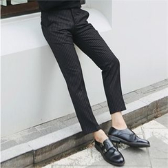 MITOSHOP - Pinstriped Tapered Dress Pants