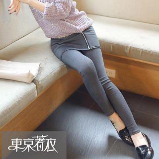 Tokyo Fashion - Inset Zip Skirt Leggings