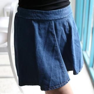 Mini Jule - Elastic-Waist Denim Skirt