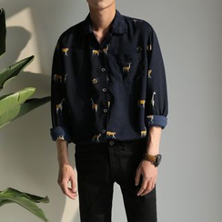 子俊 - 動物印花長袖襯衫
